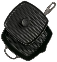 Panini Press and Signature Square Skillet Grill Set - Oyster