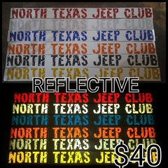 NTJC Reflective Windshield Banner
