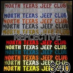 NTJC Reflective Windshield Banner