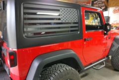 JK / JKU Hard Top Flags & Patriot (Pair)