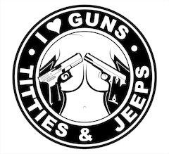 I <3 Guns, Titties & Jeeps Shirt, Tank, Hoodies