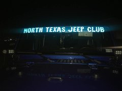 Reflective Blue Windshield Banner