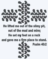 23x18 Offroad Cross Psalm 40:2