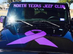 Purple Windshield Banner
