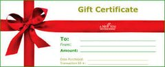 Gift Certificates from $35 to $200