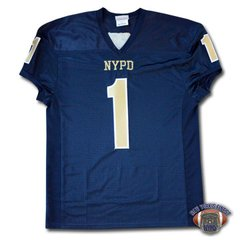 Custom NYPD Finest Football Team Jersey - Navy