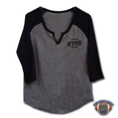 Ladies NYPD Football Team 3/4 sleeve T-Shirt