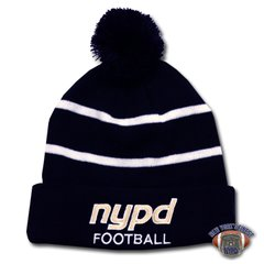 NYPD Finest Football Team Winter Beanie / Hat