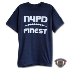 NYPD Finest Football Team Blue Short Sleeve T-Shirt