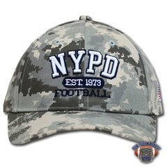 NYPD Finest Football Team Digital Camo Baseball Hat