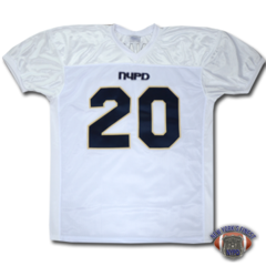 Custom NYPD Finest Football Team Jersey - White