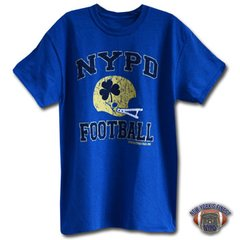 NYPD Finest Football Team Royal Blue Short Sleeve T-Shirt