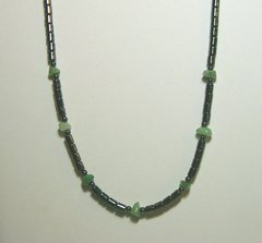Hematite Necklace with Aventurine Made in America 20% OFF