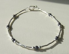 Hematite - Liquid Silver - Anklet / Bracelet