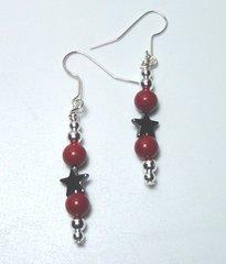 Red Jasper Earrings with Hematite 33% OFF
