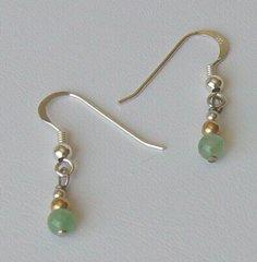 Aventurine Petite Bead Earrings