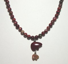 Poppy Jasper Necklace with Bear 40% OFF