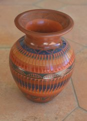 Etched Indian Vase 6 Inch - NOW 40% OFF
