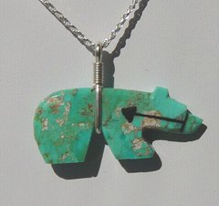 Bear Jewelry with Turquoise Magnesite Bear 40% OFF