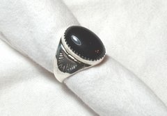 Onyx Ring | Oval Design in Sterling Silver 30% OFF