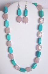 Turquoise and Rose Quartz Necklace 50% OFF