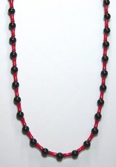 Onyx Necklace with Bamboo Coral 20% OFF