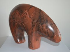 Large Red Horse Hair Bear Made in America 40% OFF