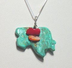 Buffalo Jewelry | Turquoise with Coral 40% OFF