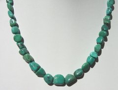 Turquoise Nugget Necklace with Graduated Stones - NOW 40% OFF