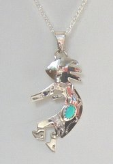 Sterling Silver Kokopelli Jewelry with Turquoise 30% OFF