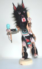 Kachina Doll - Black Wolf - 13 Inches Tall - Now 40% OFF