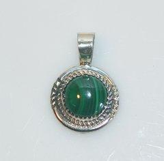 Malachite Jewelry - Round Pendant