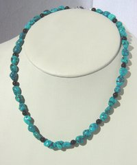 Turquoise Necklace with Onyx