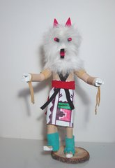 Kachina Doll - 11 Inch White Wolf - NOW 60% OFF