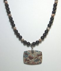 Onyx Necklace with Jasper 30% OFF