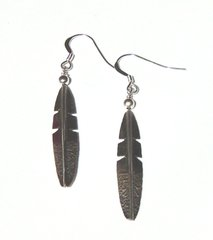 Sterling Silver Eagle Feather Earrings with French hook 30% OFF