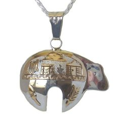 Sterling Silver Storyteller Bear Jewelry with 12K Gold Fill -55% OFF