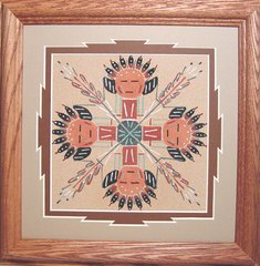 """Sand Painting - 9 Inch """"Shaman Circle of Life"""" - NOW 75% OFF"""