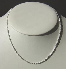 Sterling Silver Rope Chain - 2.5mm | 15 1/2 to 24 Inch