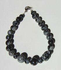 Snowflake Obsidian - Bead - Bracelet