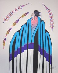 American Indian Painting - Will Redbird Secred Feathers