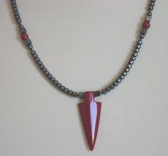 Red Jasper Arrowhead Necklace