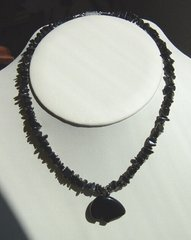 Black Bear Necklace with Black Gemstone 30% OFF