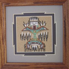 """Sand Painting - 7 Inch """"Eagle"""" - NOW 75% OFF"""