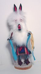 Kachina Doll - 8 Inch White Wolf - 50% OFF