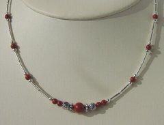 Native American Jewelry - Red Jasper Single Strand Necklace