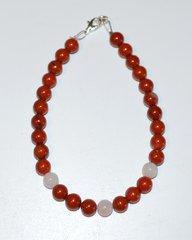 Red Jasper Bead - Rose Quartz Beads - Bracelet