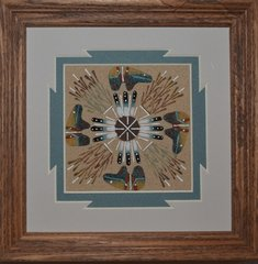 """Sand Painting - 7 Inch """"Bears"""" - NOW 75% OFF"""