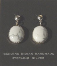 Howlite Stone Earrings with Sterling Silver Post 20% OFF