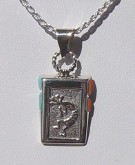 Sterling Silver Kokopelli Jewelry with Turquoise/Coral